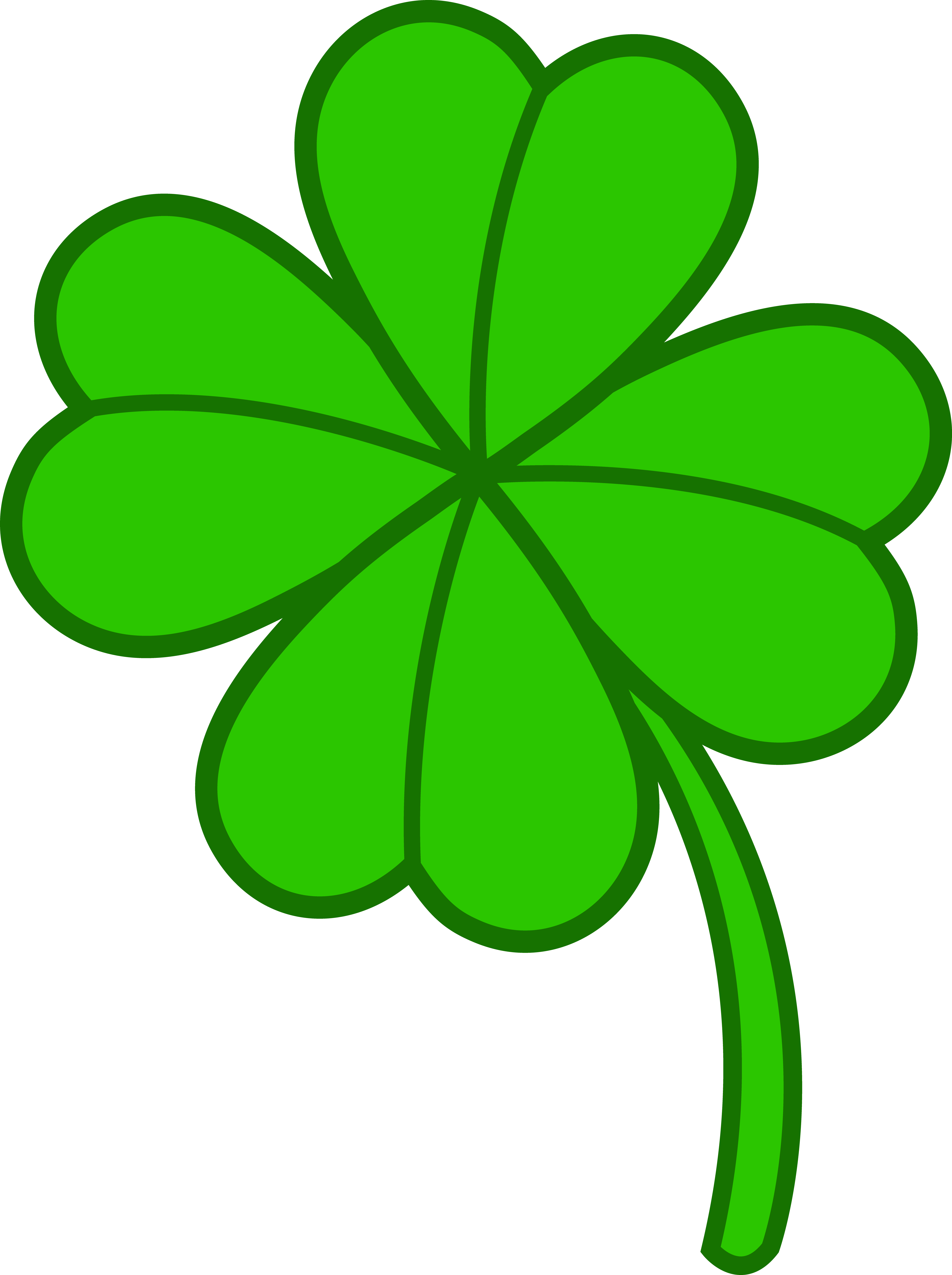 clip art freeuse download Four clipart object. Little leaf clover awesome