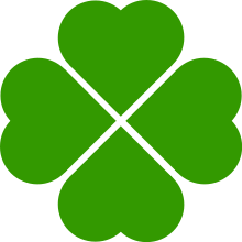 graphic black and white download Clover clipart good luck. Charm wikipedia