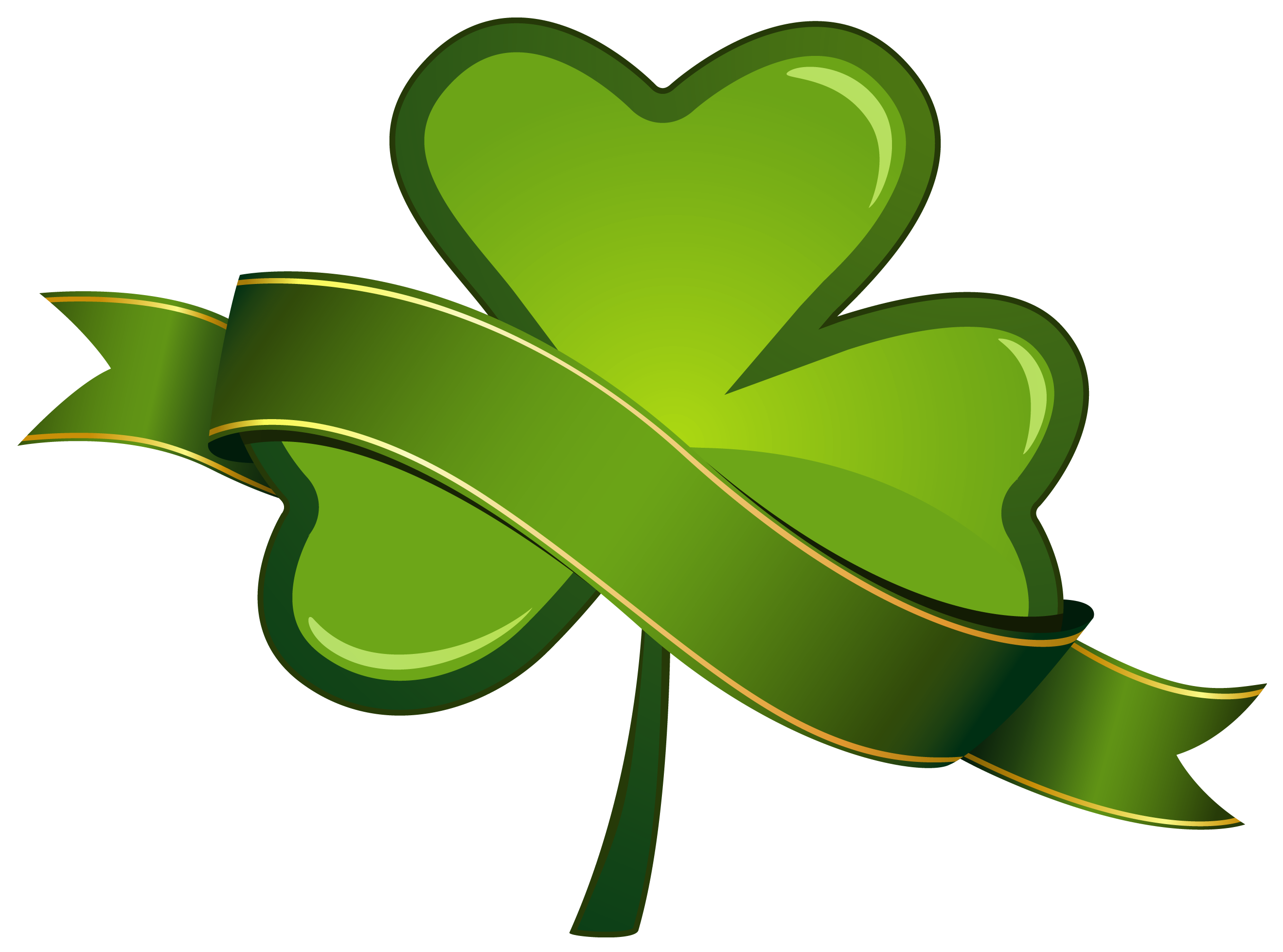 jpg royalty free stock St Patricks Day Shamrock with Banner PNG Clipart