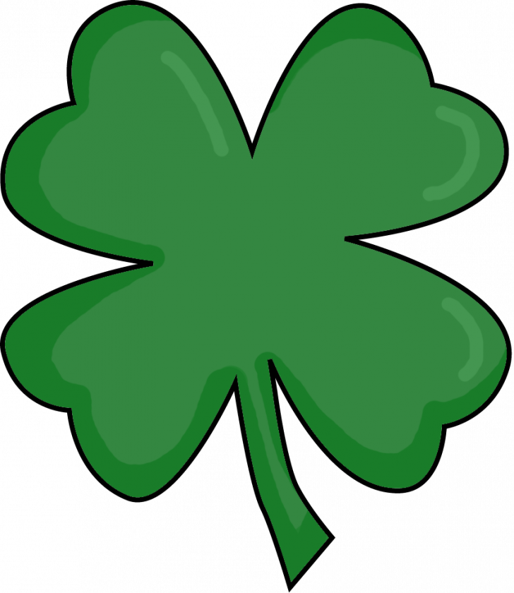 picture library library Clover clipart printable. Four leaf irish pictures.