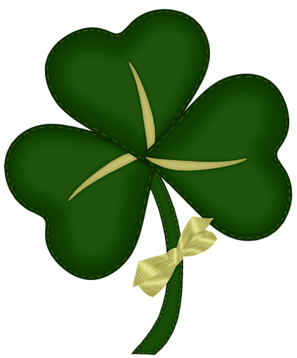 clip free Patrick shamrock with yellow. Clover clipart st pats.