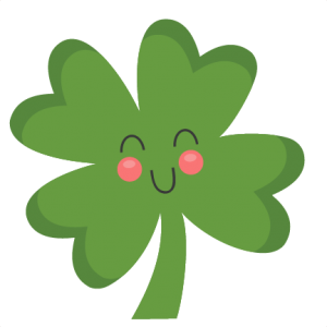 banner freeuse library Cute Four Leaf Clover SVG