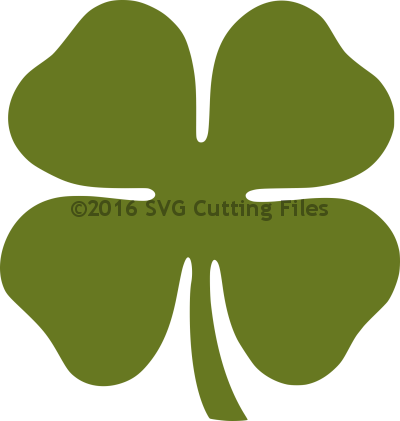 png black and white stock Simple Clover