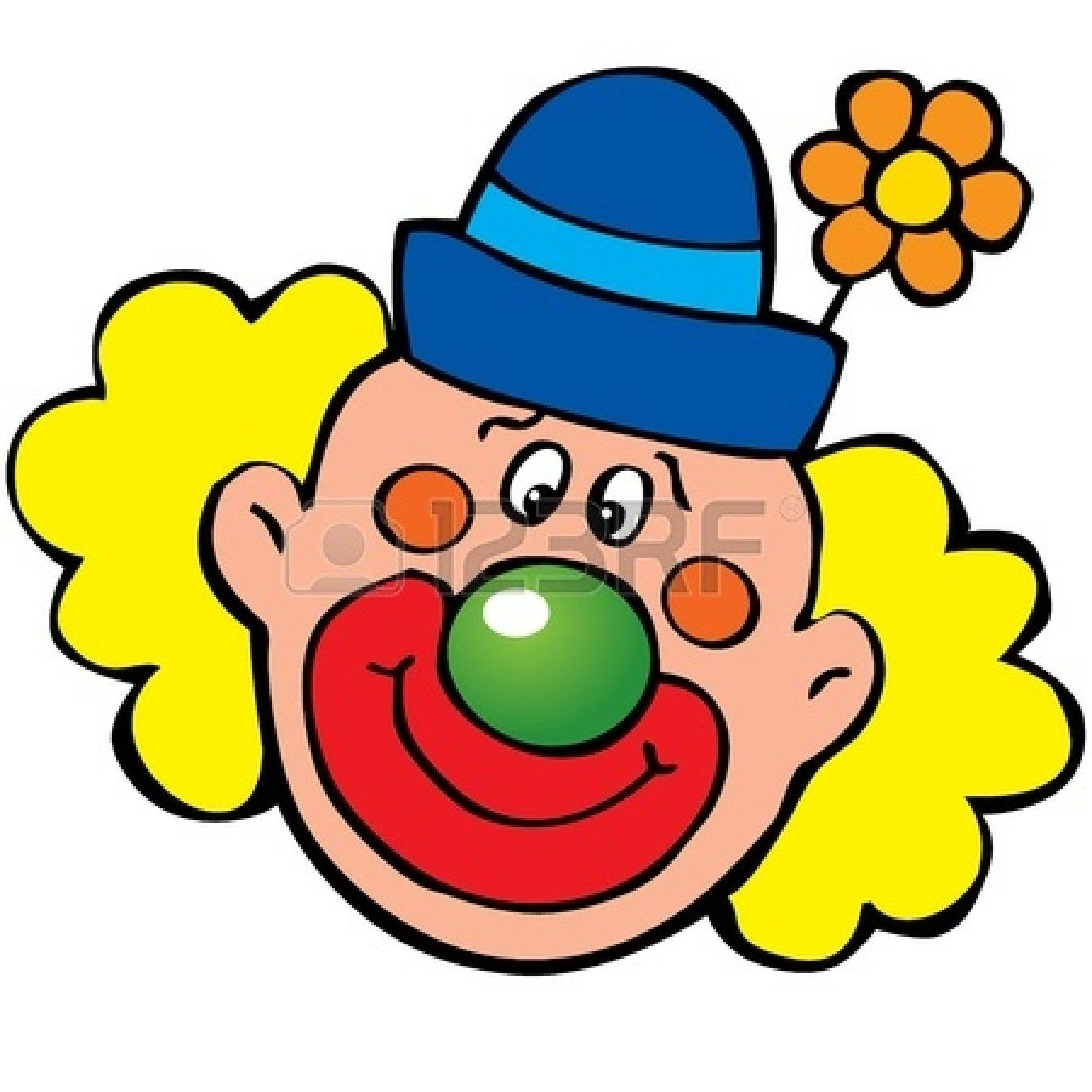 png transparent Face clip art happy. Clown clipart.