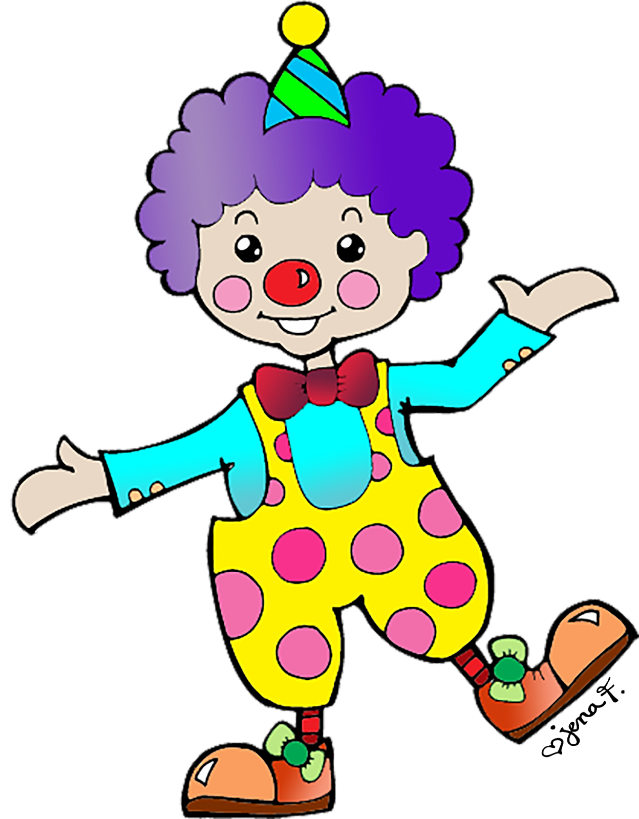 graphic stock Happy . Clown clipart.