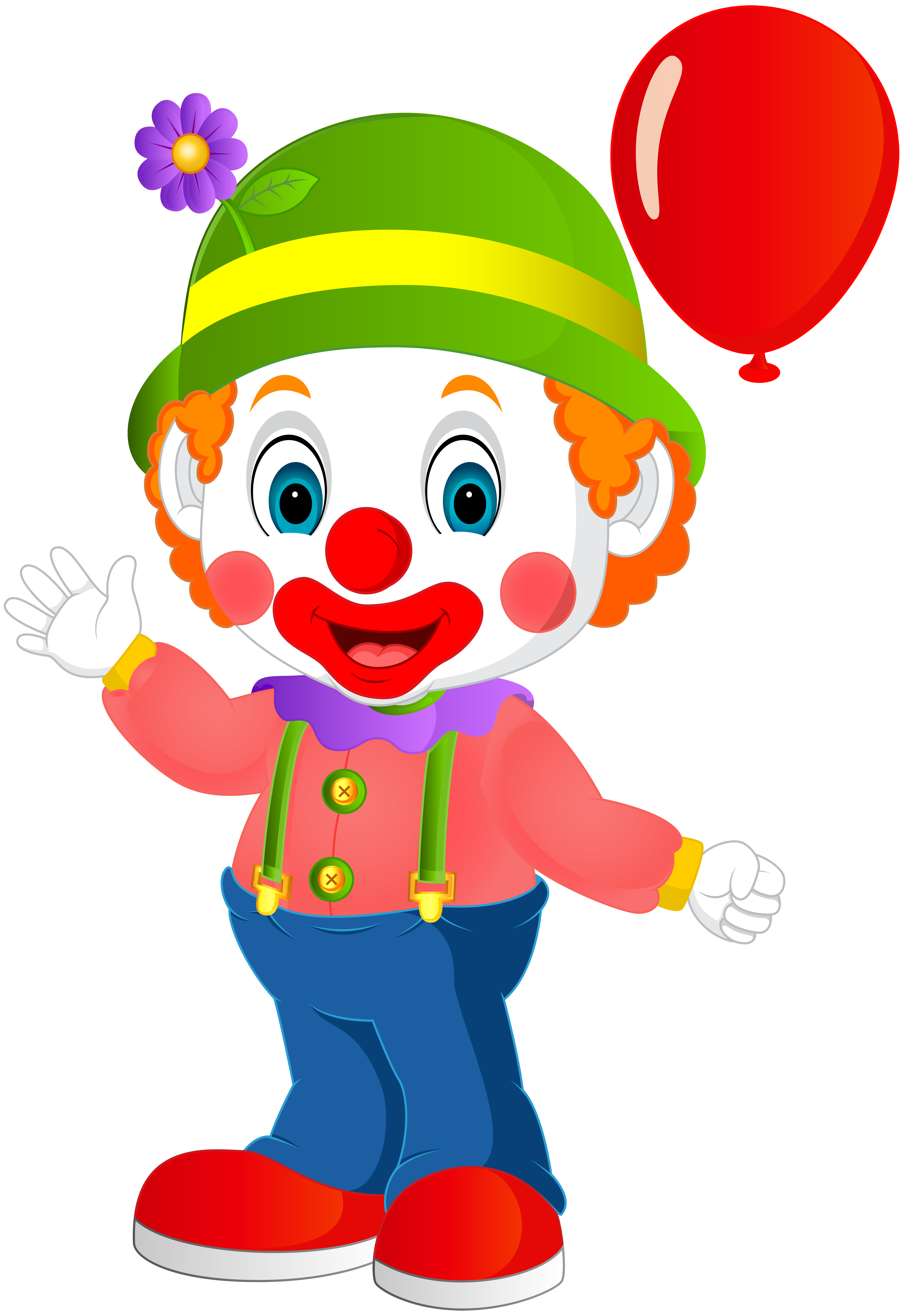 jpg library download Clown clipart. Cute transparent png clip
