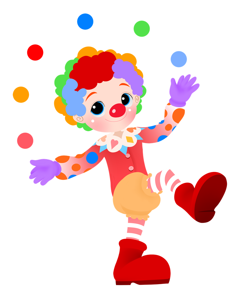royalty free download Cute clown drawing