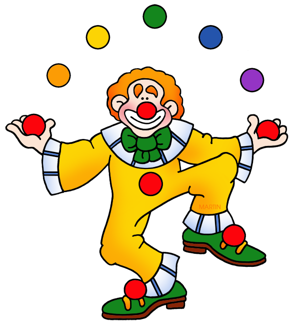 png black and white library Clown clipart. Birthday clip art by.