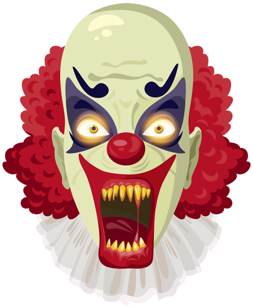 svg download Scary clipart marshmallow. Clown png image halloween