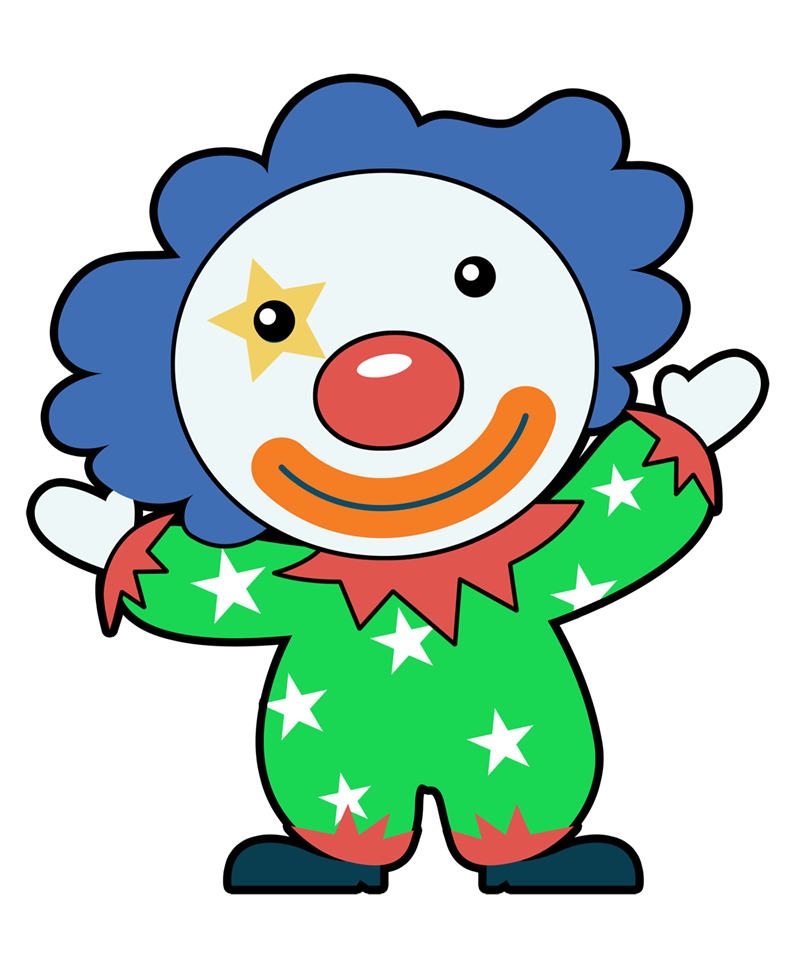 clip stock  collection of images. Clown clipart easy cartoon.