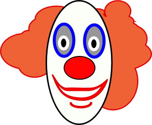svg free download Creepy face clip art. Clown clipart easy cartoon.