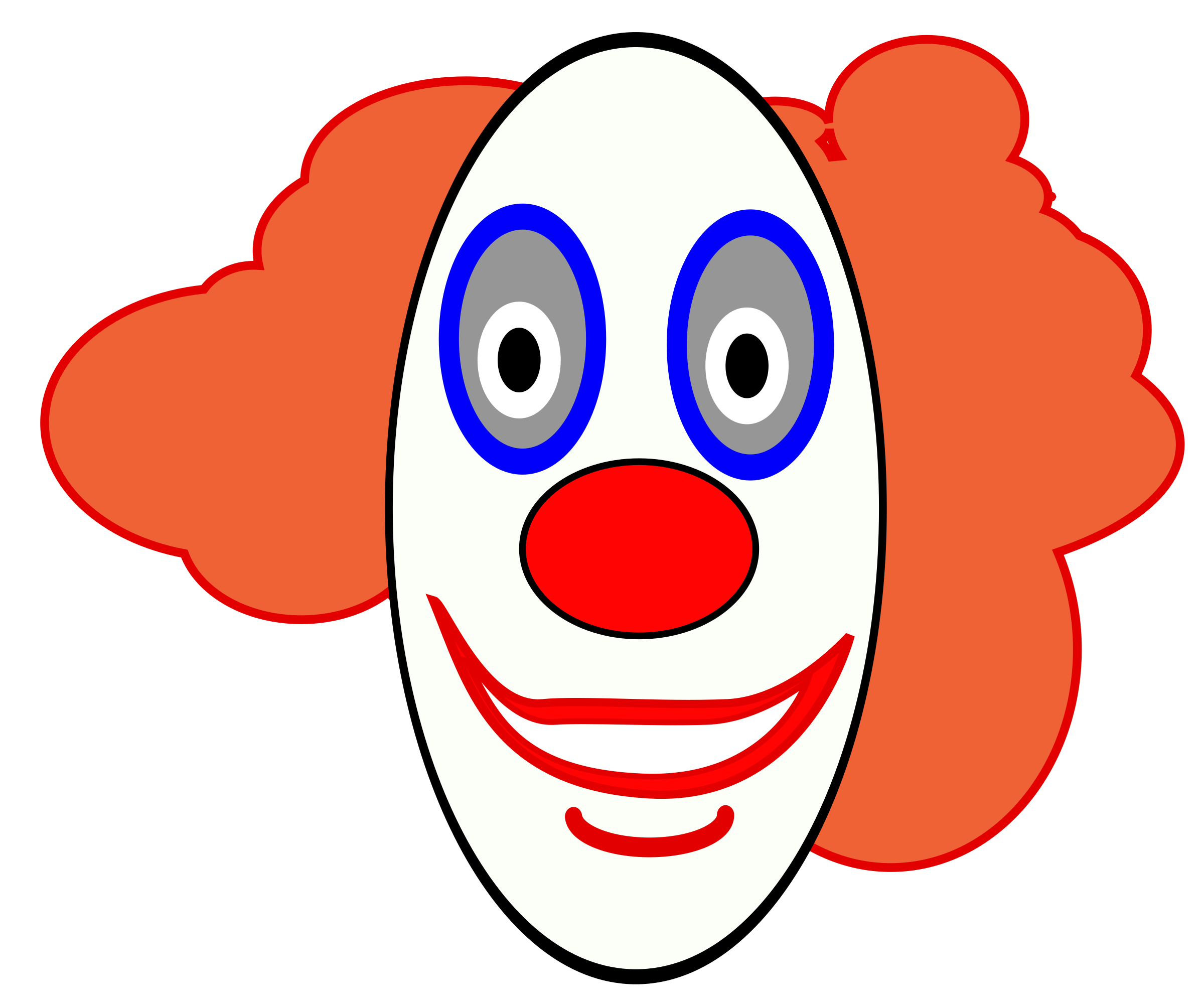 picture freeuse Clown clipart scary.  collection of face.