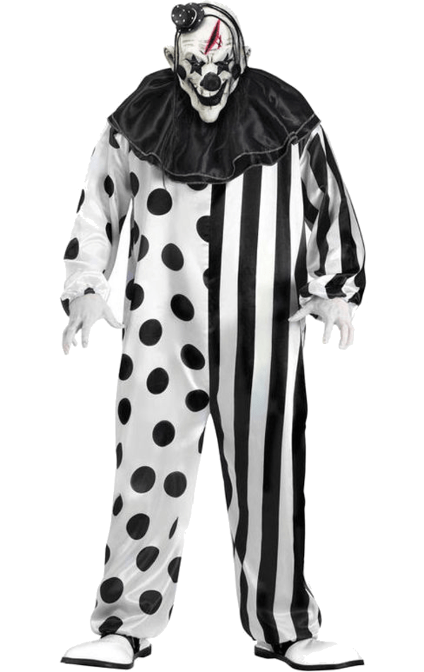 png free stock Clown clipart scary. Black and white creepy.