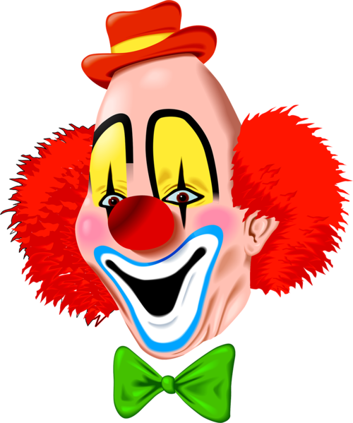 vector freeuse stock Tubes clowns pierrots scrapbooking. Clown clipart scary.
