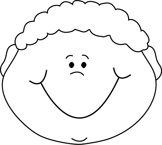 svg free download Black and White Little Boy Happy Cartoon Face