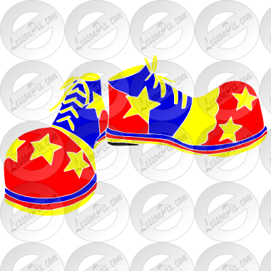 svg free download Clown Shoes Stencil for Classroom