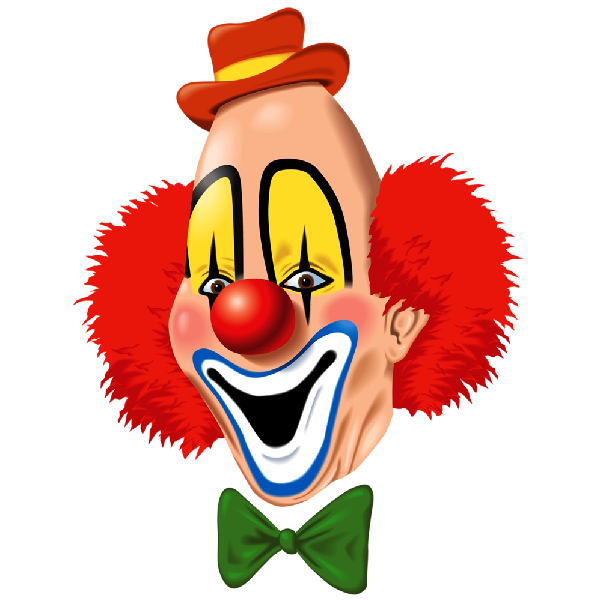png black and white download Transparent 2ds clown. Party clowns and balloons