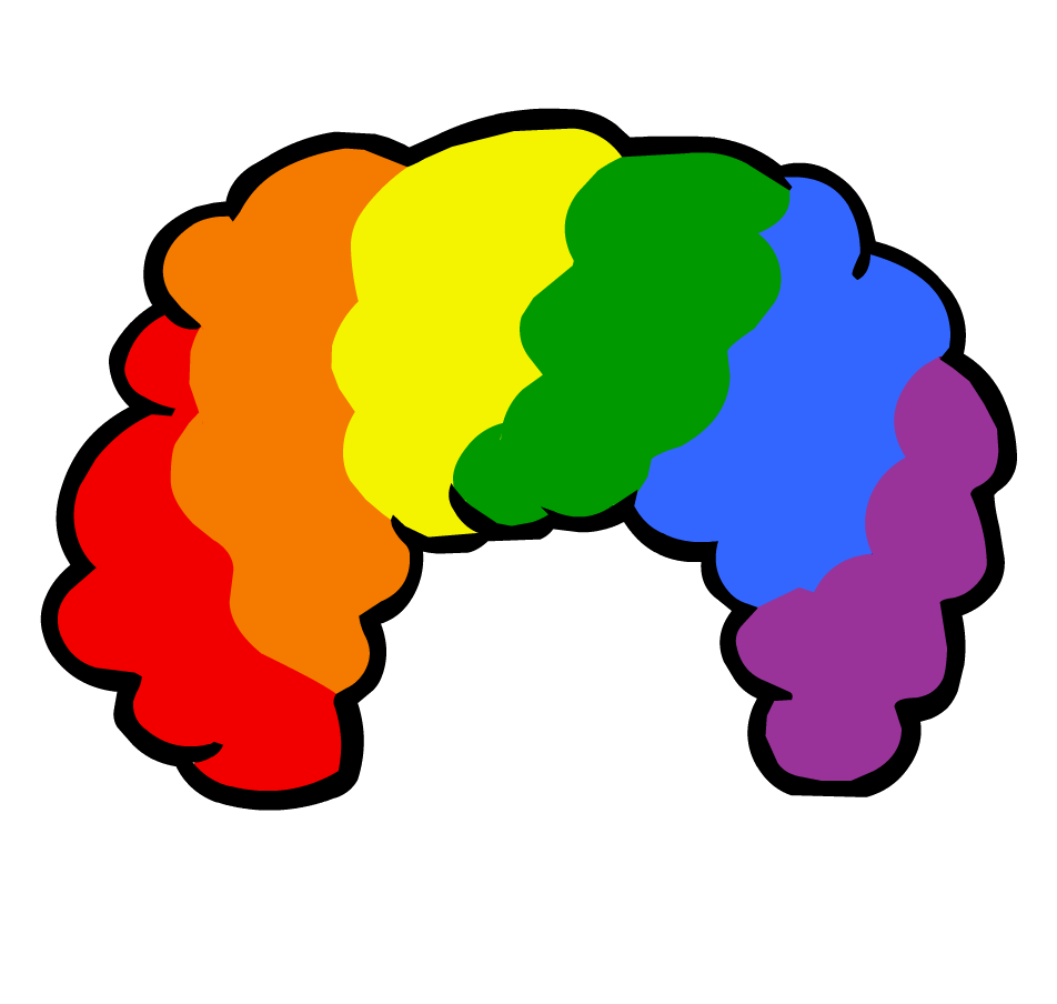 png freeuse library afro transparent rainbow #88816384