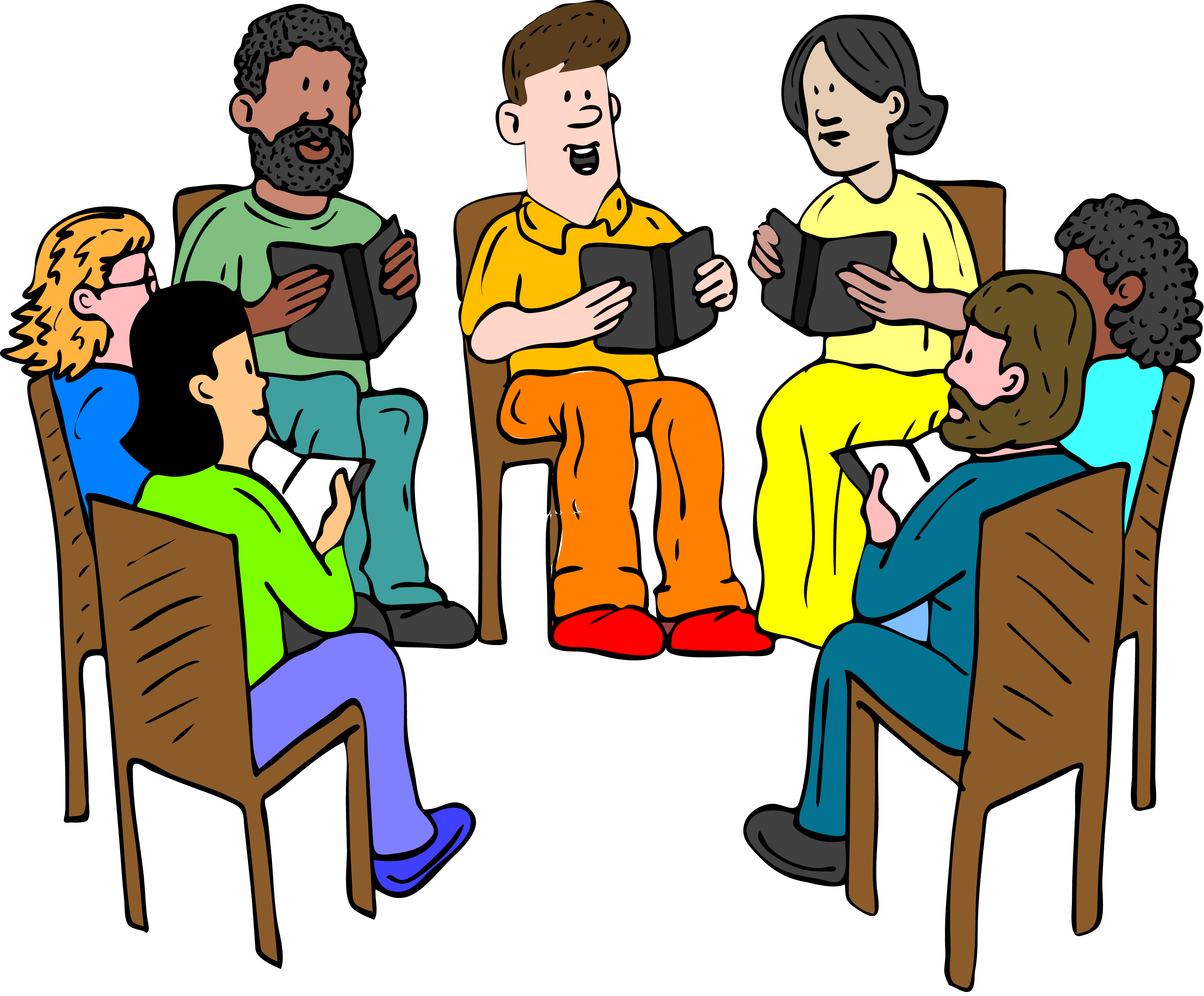transparent library Club meeting free on. Library clipart reference book.
