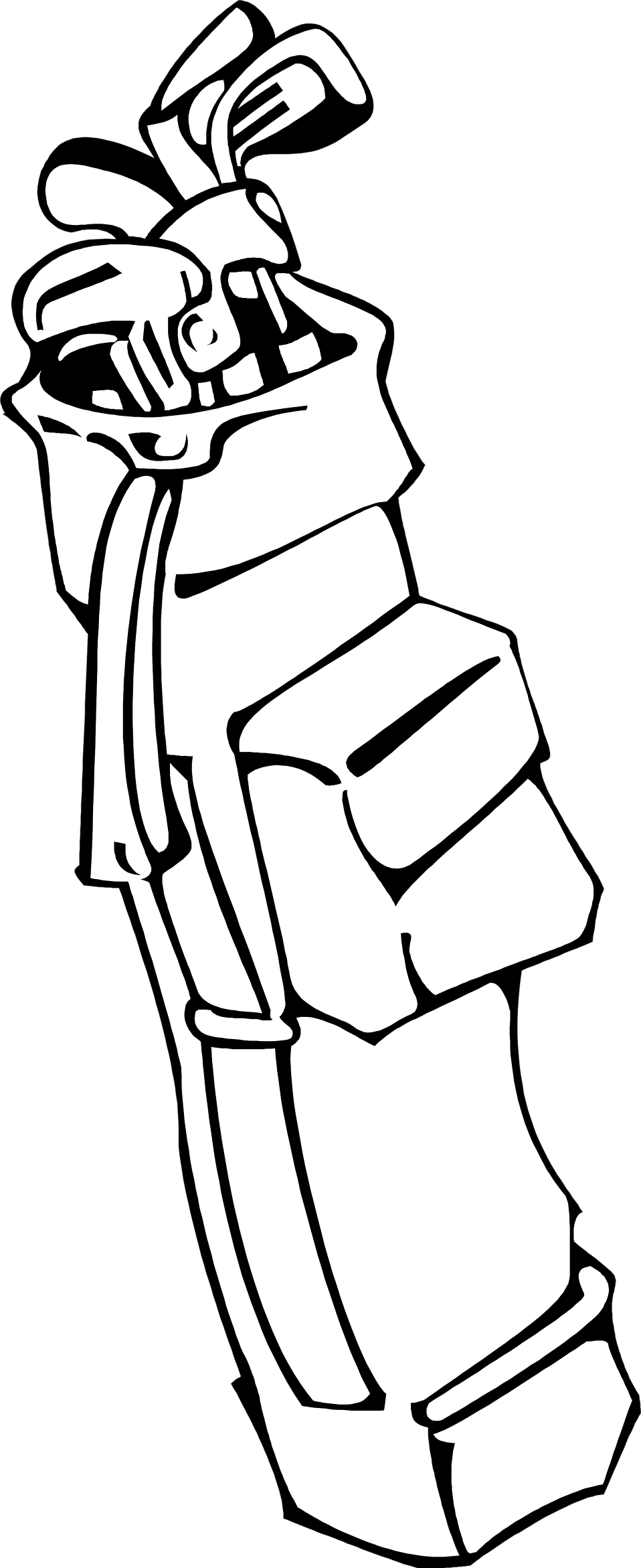 vector library download Golf bag at getdrawings. Club clipart drawing.