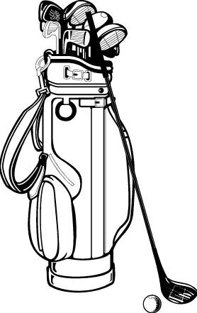 clipart free download Club clipart drawing. Golf bag clip art.