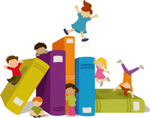 vector free stock  collection of kids. Librarian clipart public library.