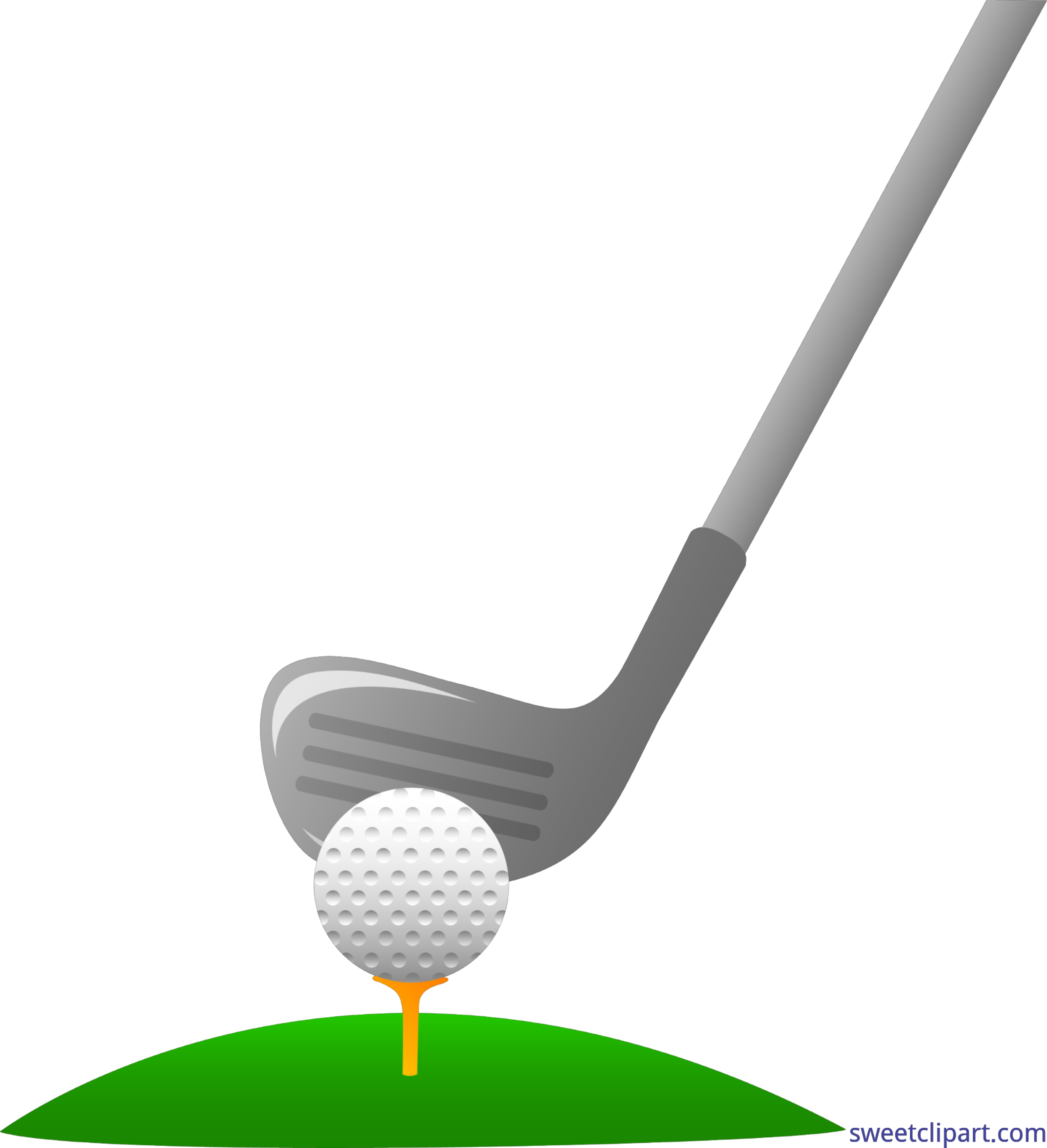 graphic Club clipart number 1. Golf and ball clip.