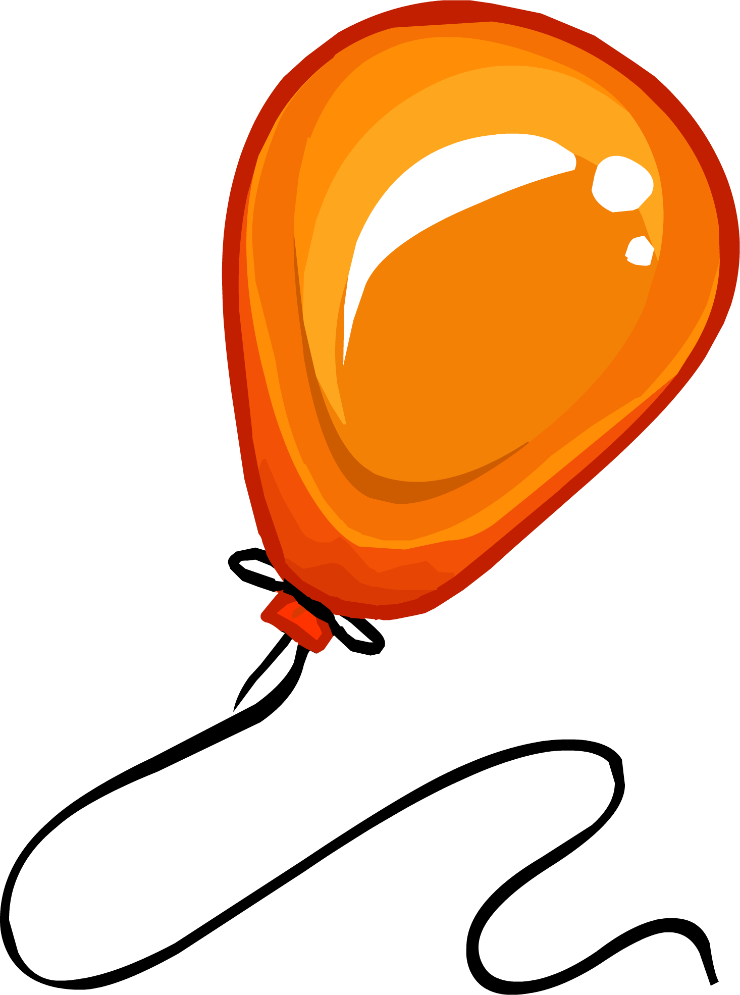 clip art royalty free Image orange balloon clothing. Club clipart number 1.