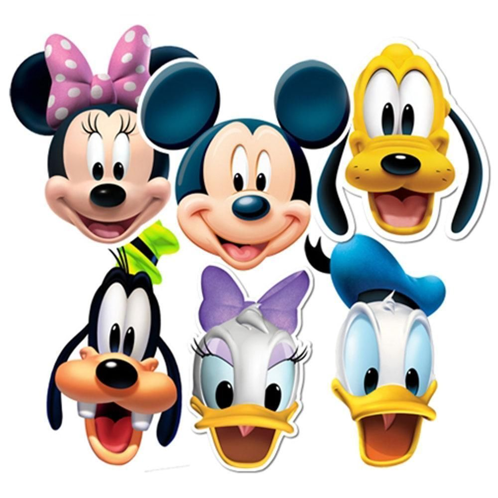 picture royalty free stock Clubhouse clipart cartoon. Mickey mouse characters faces.