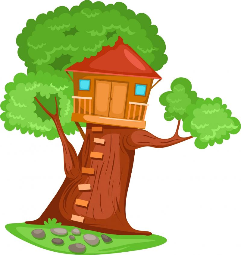 clip art freeuse stock Clubhouse clipart magical tree. Free home cliparts download.