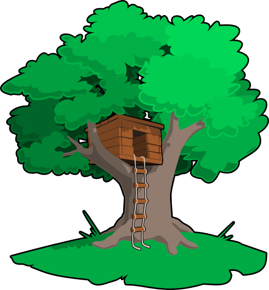 clipart transparent stock Clubhouse clipart magical tree. Free cartoon house pictures.
