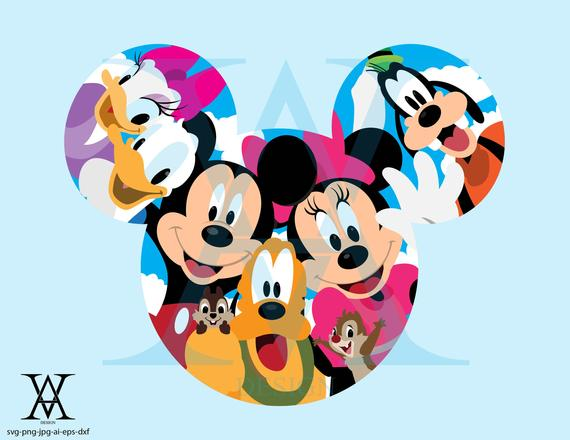 clip art stock Clubhouse clipart svg. Disney vector instant download.