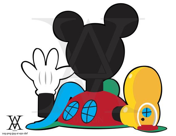 jpg royalty free library Mickey mouse vector instant. Clubhouse clipart svg.