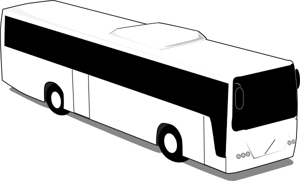clip art freeuse stock Travel trip clip art. Vector bus black and white