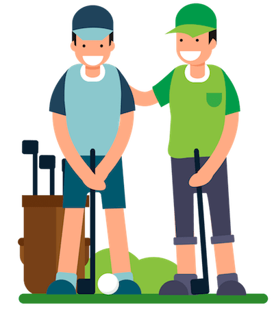clipart transparent library Best golf tips ever. Coach clipart coach player.