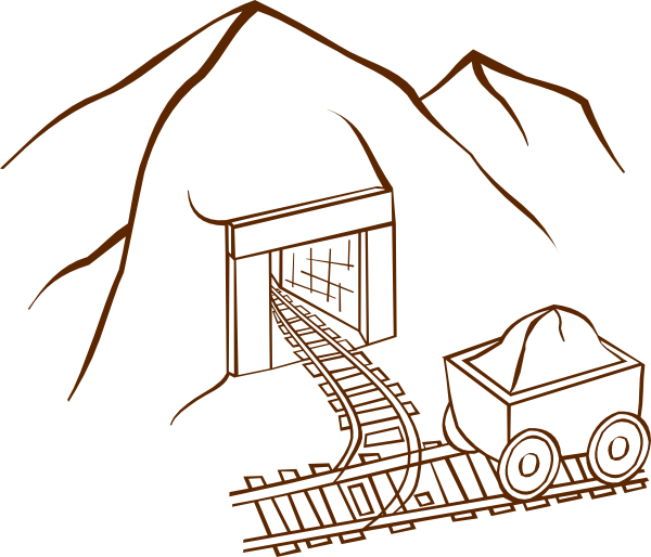svg library library Coal clipart mine entrance. Clip art at clker.