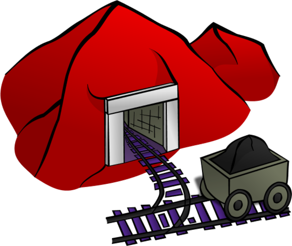 jpg library stock Panda free images mineclipart. Coal clipart mine entrance.