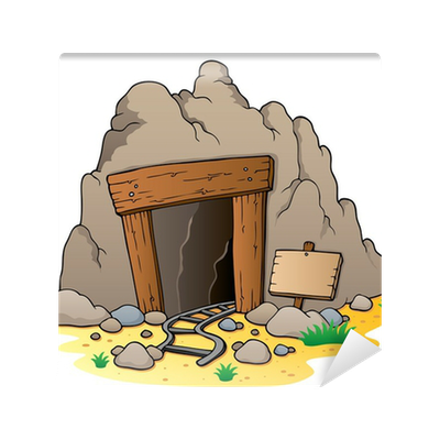 image library stock Coal clipart mine entrance. Cartoon wall mural pixers.