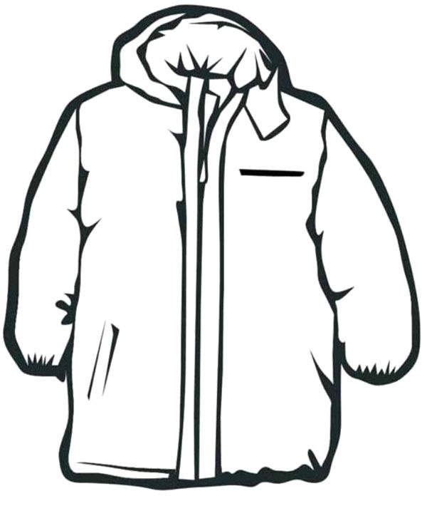 clip transparent Coat clipart. Black and white pencil