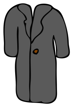 clipart freeuse library Coat clipart jersey. Clothes winter wear coats.