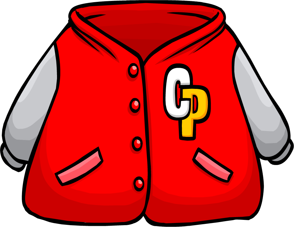 vector free library Red letterman club penguin. Coat clipart varsity jacket