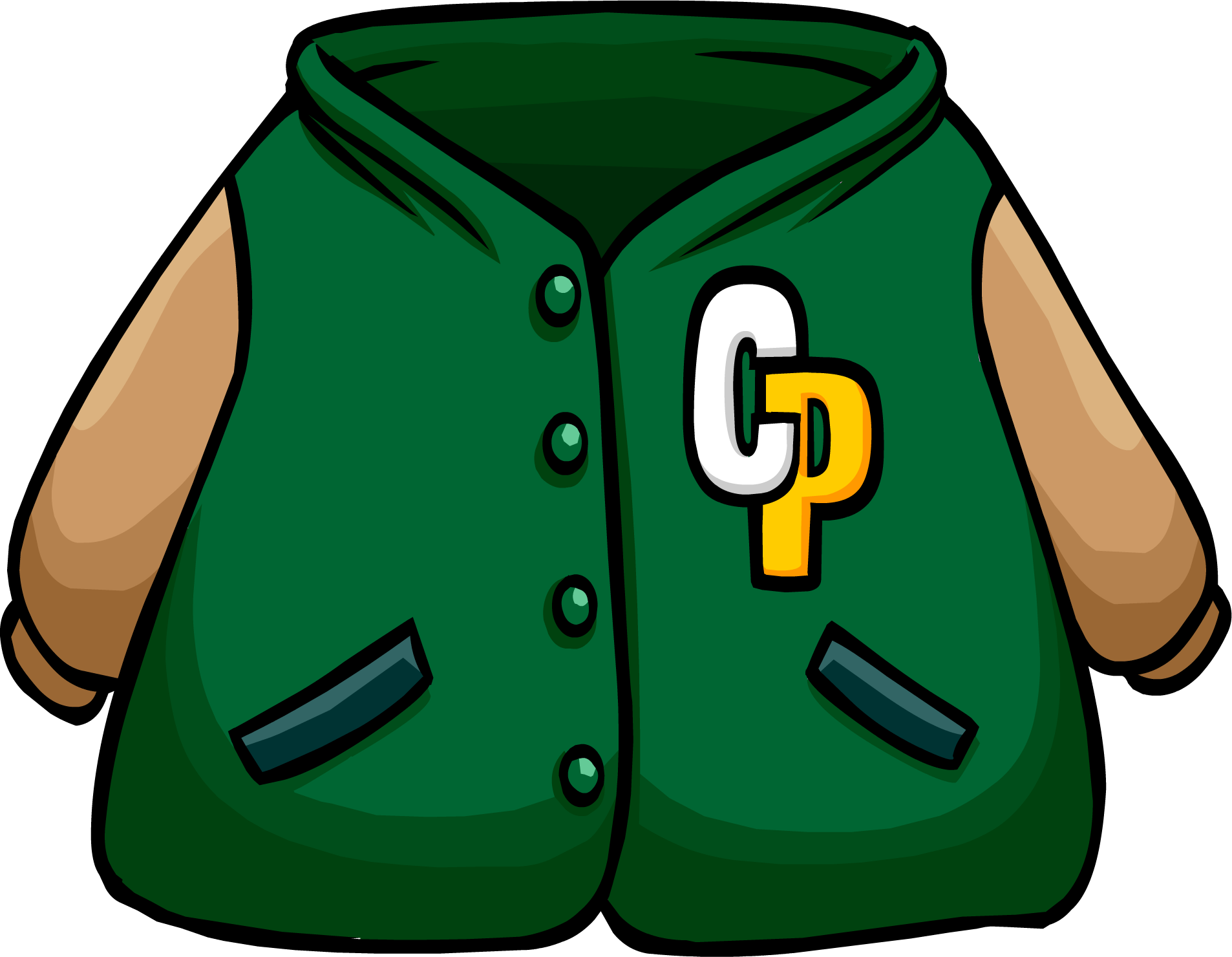 picture library library Coat clipart varsity jacket. Green letterman club penguin.