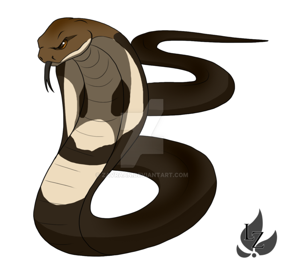 png black and white stock Drawing snake kobra. King cobra by zavraan