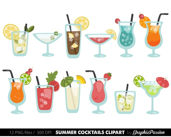 clip art royalty free library Cocktail clipart. Summer cocktails clip art