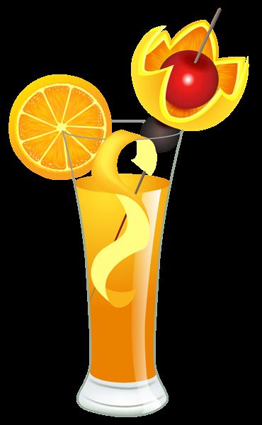 vector free Cocktails clipart retro cocktail. Orange png picture clip
