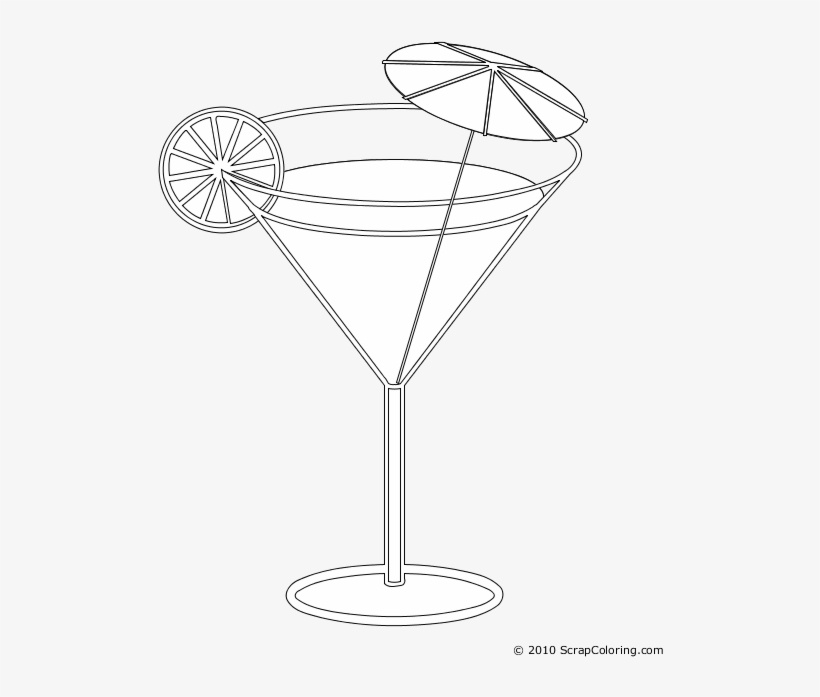 clipart freeuse stock Cocktail drawing coloring. Margarita glass pages by