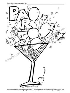 svg black and white download  best color your. Cocktail drawing coloring