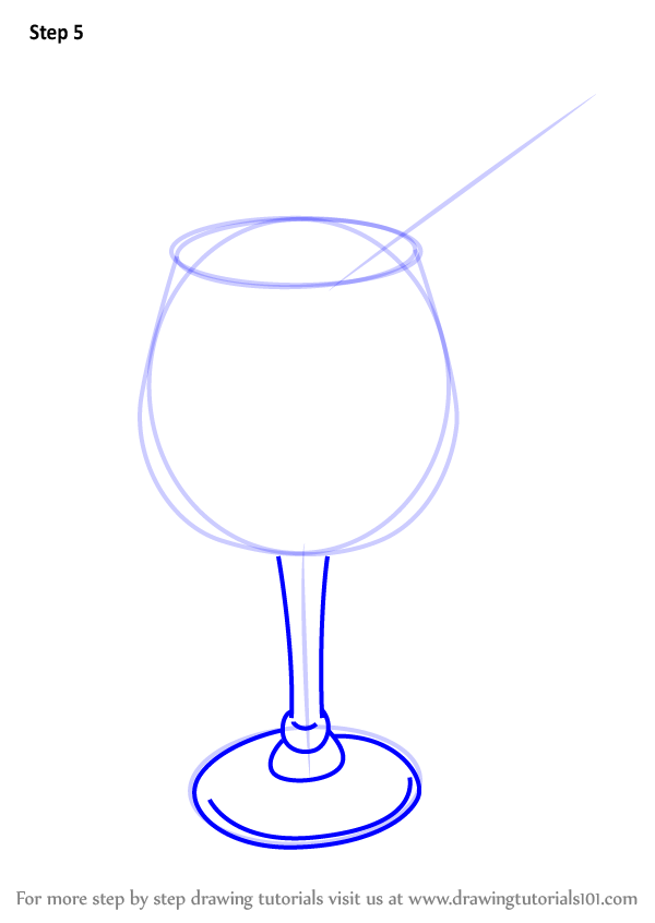 graphic black and white Learn How to Draw a Cocktail Glass