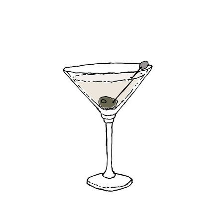 clip art free download Martini dry in a. Drawing sticks cocktail glass