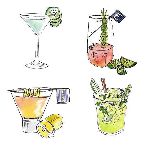 clip library stock Cocktail garnish Juice Watercolor painting Drawing